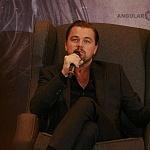 el actor Leonardo Dicaprio en conferencia de prensa en la ciudad de México