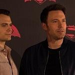 Ben Affleck y Henry Cavill actores que interpretan a Batman y Superman en la pelicula de Batman vs Superman en la premier de la Ciudada de México 1