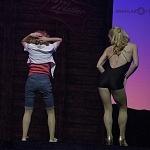 Ximena Nava como Baby  en Dirty Dancing en el cumplimiento de las 100 representaciones