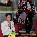 conferencia de prensa del piloto mexicano Gabriel Martínez-Abrego por su proxima participación en MOTO 3