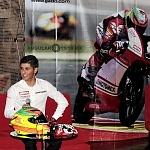conferencia dev prensa del piloto mexicano Gabriel Martínez-Abrego por su proxima participación en MOTO 3