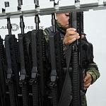 entrega de armas al agrupamiento femenil de fuerzas especiales previo al desfile del 16 de septiembre 2016
