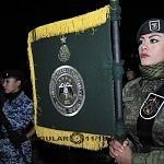 Bandera de Fuerzas Especiales Previo al Desfile 2016