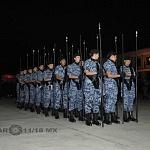 Agrupamiento Femenil Fuerza Aérea y Aerologistica previo al desfile 2016.