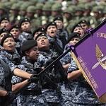Agrupamiento Femenil Fuerza Aérea en el desfile 2016