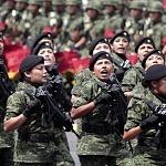 Agrupamiento Femenil de fuerzas especiales en el desfile 2016