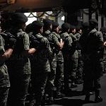 agrupación femenil previo al desfile del 16 de septiembre 2016 en la calle 20 de nov.