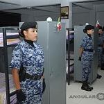 Preparación del agrupamiento femenil de la fuerza áerea en Dormitorios Previo al Desfile 2016