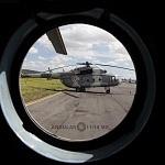 Helicóptero MI-17 previo al desfile militar del 206 aniversario de la Independencia de Mexico