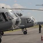 Helicóptero MI-17 previo al despegue desfile militar del 206 aniversario de la Independencia de México