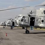 Helicóptero MI-17 previo al despegue, desfile militar del 206 aniversario de la Independencia de México
