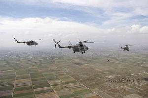 helicópteros MI-17 en formación desfile 16 de septiembre 2015