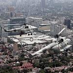 Helicópteros MI-17 en formación: desfile 16 de septiembre 2016