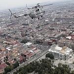 helicópteros MI-17 en formación desfile 16 de septiembre 2016