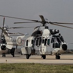 Parada aérea del desfile militar del 16 de Septiembre helicopteros