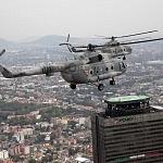 Parada aérea del desfile militar del 16 de Septiembre helicóptero MI 17