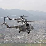 Parada aérea del desfile militar del 16 de septiembre helicópteros MI 17