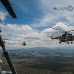 Vista panorámica desde un helicóptero MI 17