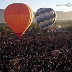Vista aérea desde el globo número 027  en el Festival Internacional del Globo 2016 en León