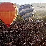 Vista aérea del Festival Internacional del Globo 2016 de  León