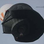Vista aérea de un globo en forma del casco de Darth Bader  durante el Festival Internacional del Globo 2016 en León GTO