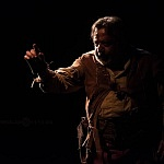 primer actor José Sefami en la puesta en escena Divino Pastor Góngora