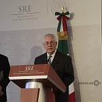 Secretario de Estado de los Estados Unidos Rex Tillerson en la reunión de alto nivel entre México y Estados Unidos