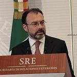 Secretario de Relaciones Exteriores, Luis Videgaray Caso en la visita de alto nivel entre Estados Unidos y México