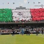 iniciativa UNAMONOS por México bandera monumental en el estadio Olímpico Universitario en la jornada 5 del torneo de clausura 2017 (1)