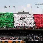 iniciativa UNAMONOS por México bandera monumental en el estadio Olimpico Universitario en la jornada 5 del torneo de clausura 2017
