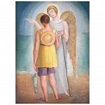 Autor Angel Zárraga obra el arcangel y la pescadora de 1920