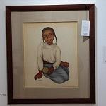 Autor Emilio Baz Viaud obra niña indigena 1938