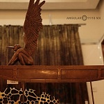 Autor Jorge Marin obra Abraxasas en balsa miniatura , 2011 escultura en bronce