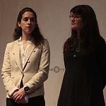 Alejandra Haas, titular del Consejo Nacional para Prevenir la Discriminación y Babette Warendorf Curadora