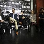 Tizoc Arroyo, Francesca Guillén, Nailea Norvind puesta en escena instinto 1
