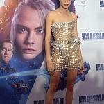 La actriz Cara Delevingne en la premier de la película VALERIAN y la ciudad de los mil planetas, en la ciudad de México 1
