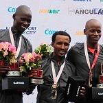 Premiación de ganadores de la XXXV edición del Maratón Internacional de la Cuidad de México