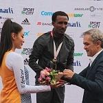 Premiación de la XXXV edición del Maratón Internacional de la Cuidad de México al Etíope Fikadu Kebede Guirma