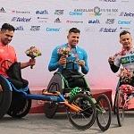 ganadores rama silla de ruedas del XXXV edición del Maratón de la ciudad de México