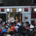 Cuerpos de rescaste de la Cruz Roja durante el sismo del 19 de septiembre 1