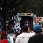 Cuerpos de rescaste de la Cruz Roja durante el sismo del 19 de septiembre.