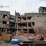 Derrumbe del edificio Saratoga 715 colonia portales edificio de 5 pisos con 16 viviendas a consecuencia del sismo del 16 de Septiembre de 2017 ( toma lateral 1)