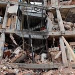 Derrumbe del edificio Saratoga 715 colonia portales edificio de 5 pisos con 16 viviendas a consecuencia del sismo del 16 de Septiembre de 2017 ( toma lateral 2)
