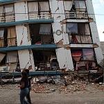 Derrumbe del edificio Saratoga 715 colonia portales edificio de 5 pisos con 16 viviendas convirtiéndose en escombros los dos primeros pisos a minutos del sismo