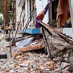 Derrumbe del edificio Saratoga 715 colonia portales edificio de 5 pisos con 16 viviendas por el sismo del 16 de Septiembre de 2017 (fachada toma lateral)