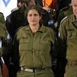 brigadista Israeli durante la ceremonia de despedida
