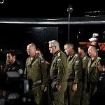 brigadistas Israelis durante la ceremonia de despedida (1)