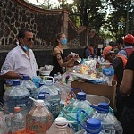 centro de acopio de agua y alimentos por el sismo del 19 de septiembre 2017