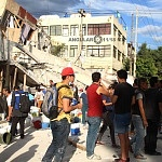 derrumbe de edificio en la ciudad de México a causa del sismo del 19 de septiembre 2017