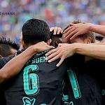 festejo del único gol del Santos frente al Cruz Azul en la jornada 9